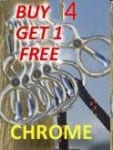 Buy 4 Chrome Tie Rings Get One Free