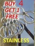Buy 4 Get One Free Stainless